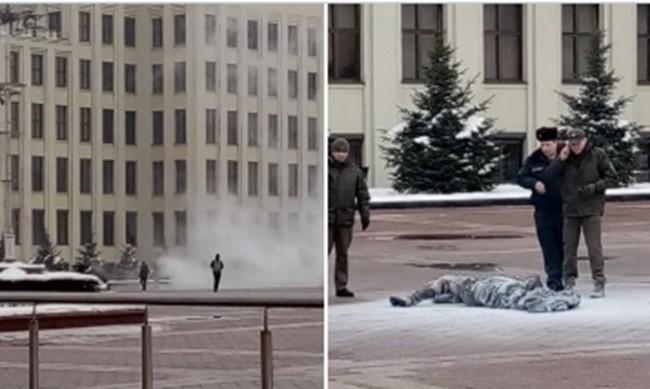 """Мъж се самозапали на площад """"Независимост"""" в Минск"""