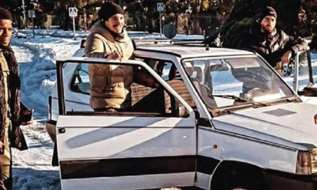 """Как малкият Fiat Panda спаси футболистите на """"Атлетико"""" от снега?"""