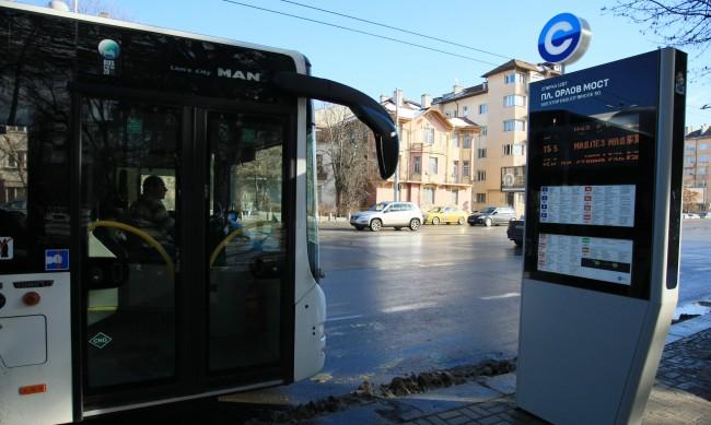 Елтаблата на градския транспорт в София временно не работят