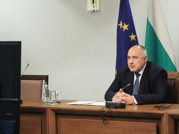 Премиерът Бойко Борисов участва във видеоконференцията на членовете на Европейския