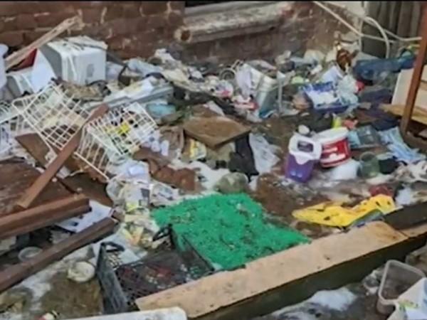 """Изоставена от години къща в столичния кв. """"Лозенец"""" се е"""