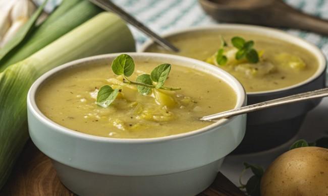 Рецептата Dnes: Картофена супа с праз и зехтин