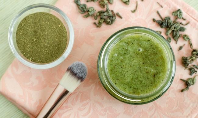 Зелен чай - подобрява състоянието на кожата при възпаление