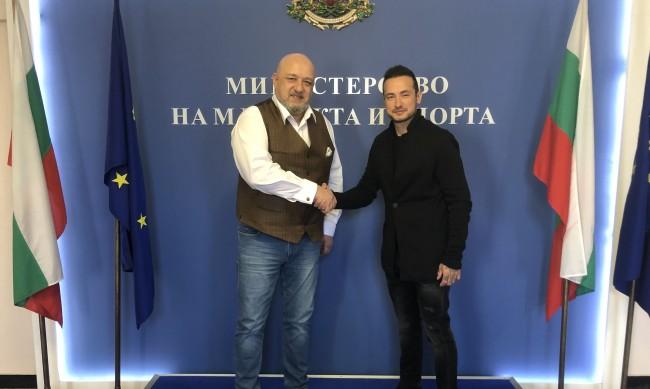 Кралев се срещна с европейския шампион Мартин Чой