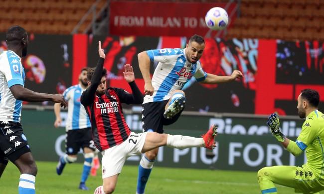 Милан се отдалечи от титлата след загуба от Наполи