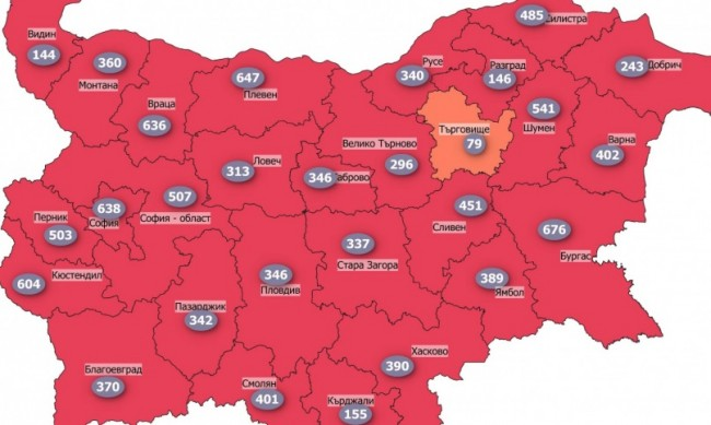 """COVID картата на България в """"червената зона"""", затварят София?"""