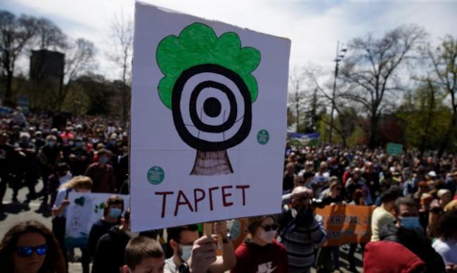 """Протест в Белград започна """"екологично въстание"""""""