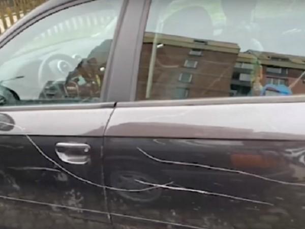 От брутално посегателство върху паркирани автомобили се оплакаха жители на