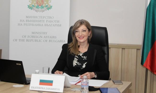 Захариева: България подкрепя суверенитета на Чехия и Украйна