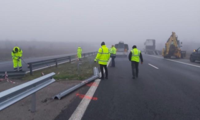 """Ограничено движение в участък на магистрала """"Тракия"""""""