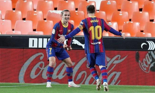 Барса с обрат срещу Валенсия, Меси блести