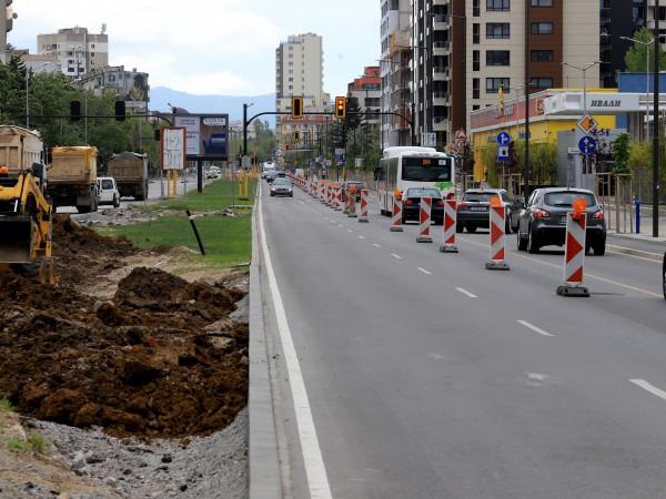 """Започна вторият етап от реконструкцията на столичния булевард """"Тодор Каблешков""""."""