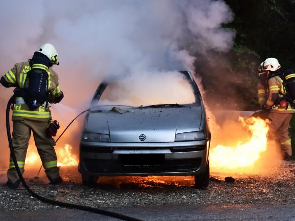 Лекотоварен автомобил е горял на пътя Михалково – Девин, съобщи