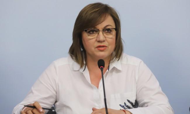 Нинова: БСП е в служебния кабинет само с Янаки Стоилов