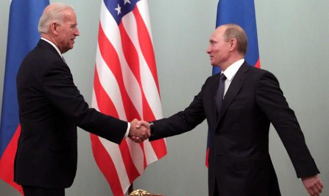 Джо Байдън и Владимир Путин на среща в Швейцария
