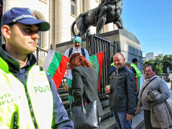 Снимка: Димитър Кьосемарлиев, Dnes.bgИ днес има протест пред Съдебната палата