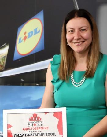 Катерина Шопова, Лидл България: Сигурността и грижата са ключови при избора на работодател