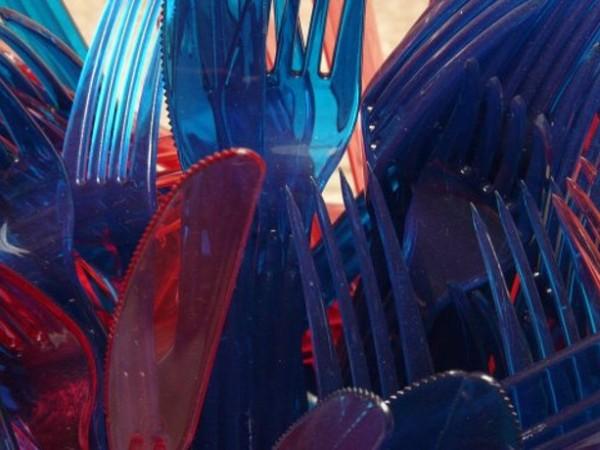Пластмасовите чинии, сламки, вилици, ножове, други прибори, както и пластмасови