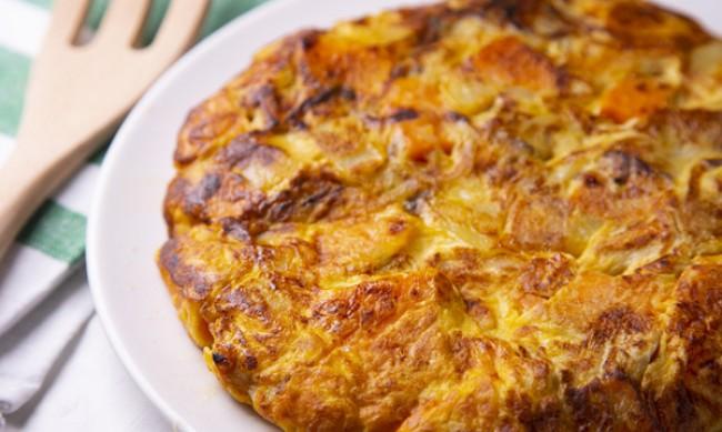 Рецептата Dnes: Фритата със сладки картофи и спанак