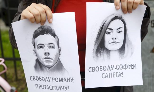 Роднини: София Сапега и Роман Протасевич са под домашен арест