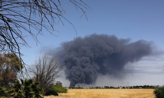 Голям пожар е бушувал в района на кипърския град Пафос