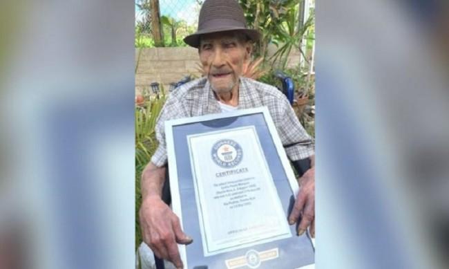 Най-възрастният мъж в света е 113-годишният Емилио Флорес Маркес
