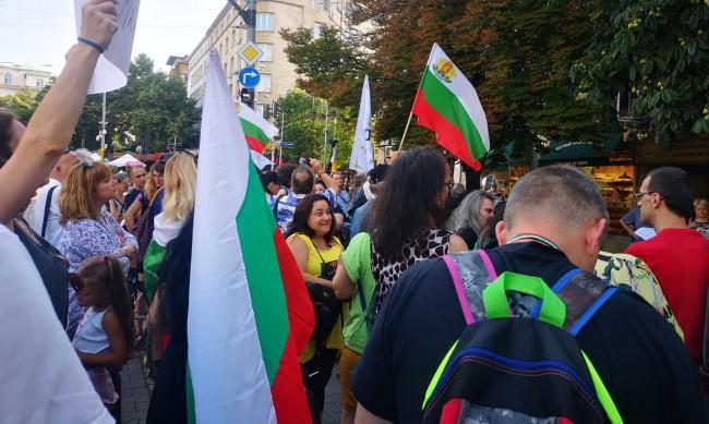 И в София организираха протест против задължителната ваксинация
