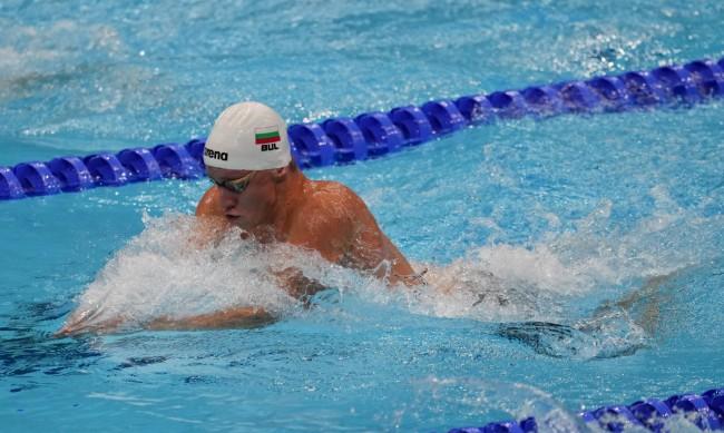 Любомир Епитропов не успя да се класира за полуфинал на 100 м бруст