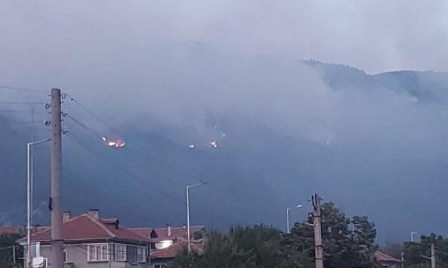 Кметът на Твърдица: Пожарът стигна на метри от града