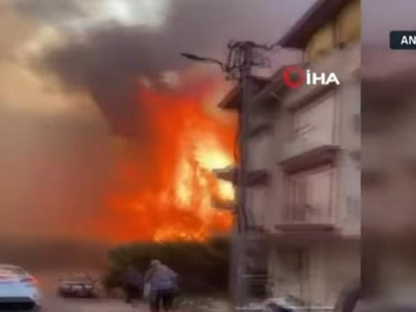 Голям пожар гори в турския окръг Анталия, властите са започнали