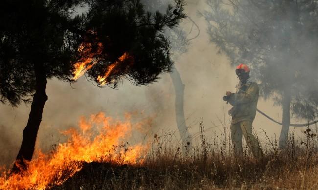 Голям пожар пламна край турския курорт Мармарис
