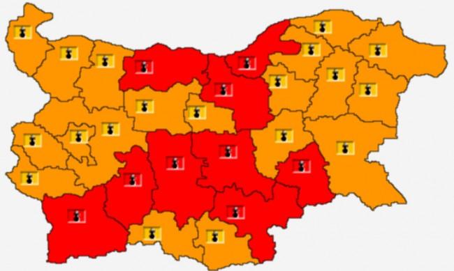 Жега! Червен код за опасни температури в 9 области, каква ще е седмицата?