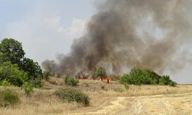 Пожарът край Сандански е погълнал хора, които гасят