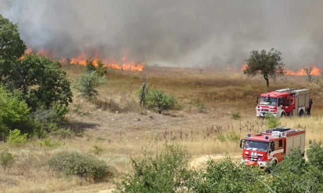 Продължава борбата с пожара край Сандански