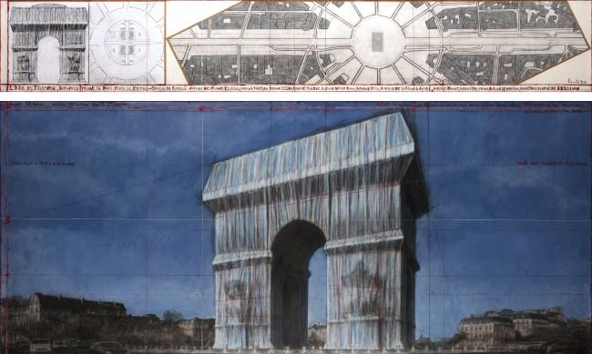 Парижани недоволстват от опаковането на Триумфалната арка в памет на Кристо