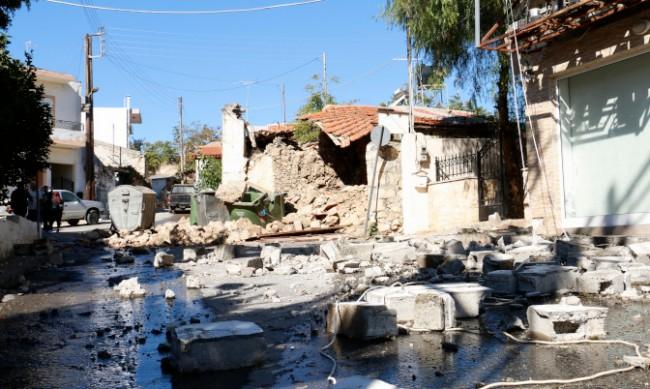 Обявено е бедствено положение в южната част на остров Крит