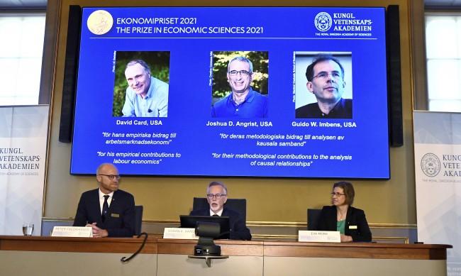 Трима икономисти от САЩ с Нобелова награда за 2021 г.