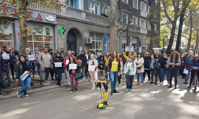 Гражданско неподчинение на протеста срещу зелените сертификати в Бургас