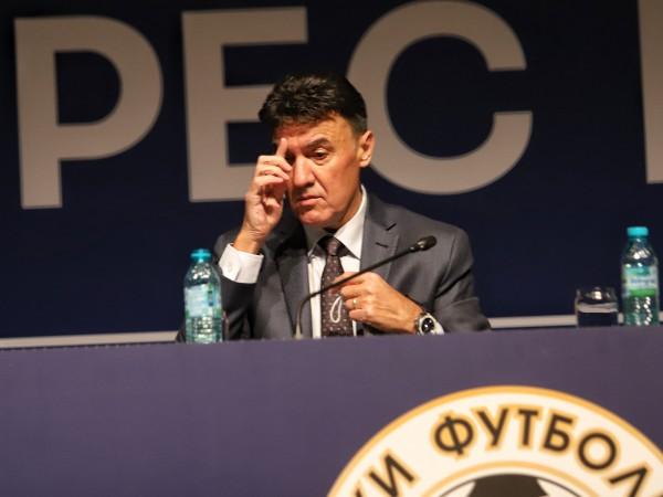 Президентът на БФС Борислав Михайлов заяви, че през 2016 година