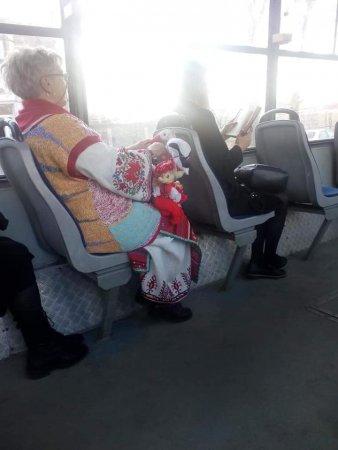 Баба Марта в градския транспорт
