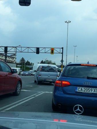 Светофарът е червен