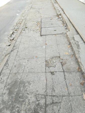 Тротоар на ул. ГОЛАШ в София