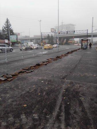 След ремонт на тротоара